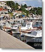 Brela Harbour Croatia Metal Print