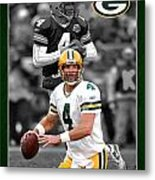 Brett Favre Packers Metal Print by Joe Hamilton