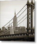 Bridge From The Bridge Metal Print