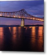 Commmodore Barry Bridge In The Blue Hour Metal Print