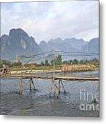 Bridge In Vang Vieng Laos Metal Print