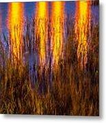 Bridge Of Lions Reflections St Augustine Florida Painted    Metal Print