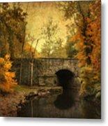 Bridge To Autumn Metal Print