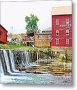 Bridgeton Mill And Covered Bridge Metal Print