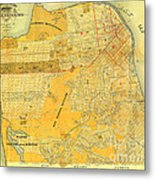 Britton And Reys Guide Map Of The City Of San Francisco. 1887. Metal Print