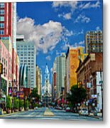 Broad Street - Avenue Of The Arts Metal Print