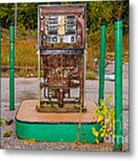 Broken And Abandoned Fuel Pump Metal Print