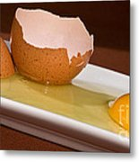Broken Brown Egg Metal Print
