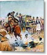 Bronc For Breakfast Metal Print