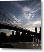 Brooklyn Bridge Sunset Metal Print