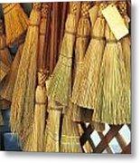 Brooms For Sale Metal Print