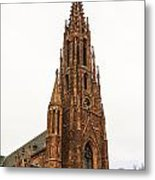 Brownstone Church Metal Print