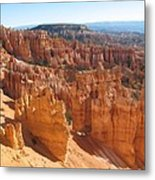 Bryce Canyon Hoodoos And Fins Metal Print