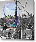 Bubbles Big Ben Metal Print