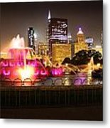 Buckingham Fountain Chicago Metal Print by Ed Pettitt