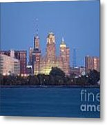 Buffalo Skyline From Fort Erie At Dusk Metal Print