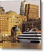 Buildings At The Waterfront, Boston Metal Print