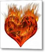 Burning Love  Brennende Liebe Metal Print