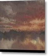 Burnt Sunset Old Metal Print by Holley Jacobs