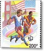 Burundi Stamp Metal Print