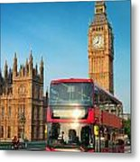 Bus In London Metal Print