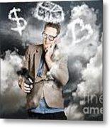 Business Man Planning Work Life Balance Strategy Metal Print
