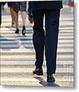 Business People Background Metal Print