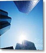 Business Skyscrapers Metal Print by Michal Bednarek