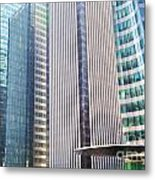 Business Skyscrapers Modern Architecture Metal Print