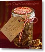 Butter Toffee Pecan Nuts With Himalania Salt Metal Print