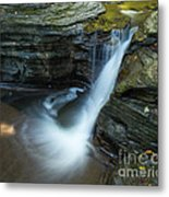 Buttermilk Falls Gorge Trail Metal Print by John Naegely