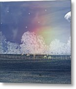 By The Light Of The Silvery Moon Metal Print