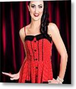 Cabaret Show Girl Performer In The Stage Spotlight Metal Print