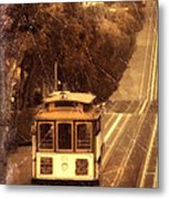 Cable Car In San Francisco Metal Print