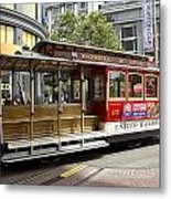 Cable Car On Turntable San Francisco Metal Print