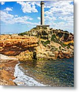 Cabo De Palos Lighthouse On La Manga In Spain. Metal Print
