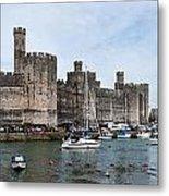 Caernarfon Castle Panorama Metal Print