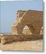 Caesarea Israel Ancient Roman City Port Metal Print