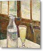 Cafe Table With Absinth  Metal Print