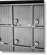 canada post post mailboxes in rural small town Forget Saskatchewan Canada Metal Print