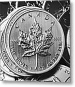 Canadian One Ounce Maple Leaf Silver Coins Metal Print