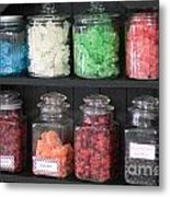 Candy In Container On Store Shelf Metal Print