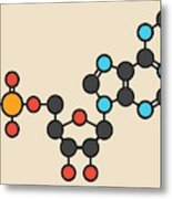 Cangrelor Antiplatelet Drug Molecule 1 Metal Print