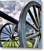 Cannon Over Gettysburg Metal Print by Andres Leon