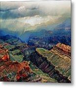 Canyon Clouds Metal Print