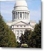 Capitol Building In Little Rock Metal Print