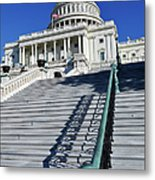 Capitol Hill Building In Washington Dc Metal Print
