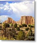 Capitol Reef National Park. Catherdal Valley Metal Print