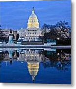 Capitol Reflecting Pool Metal Print