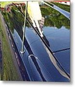 Car Reflection Metal Print